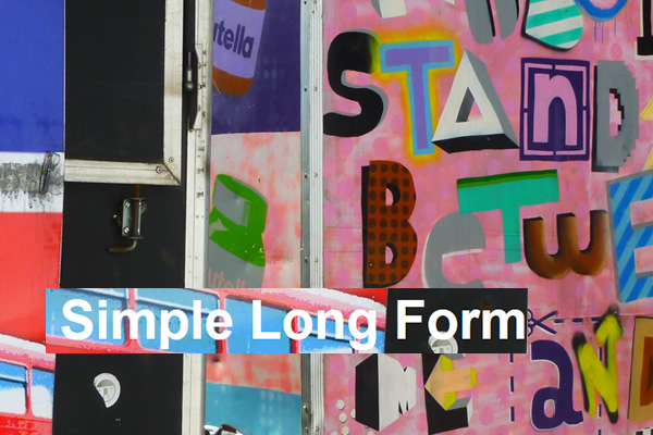 Simple Long Form plugin Wordpress